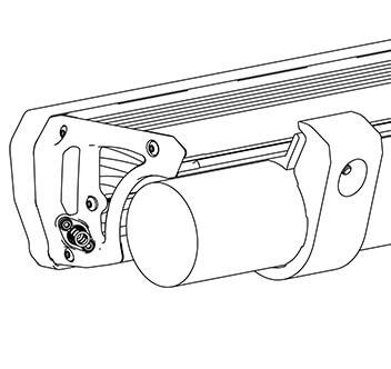 ARB INTENSITY(インテンシティ)LEDライトバーAR40用 バンパーチューブ取り付けキット srcset=
