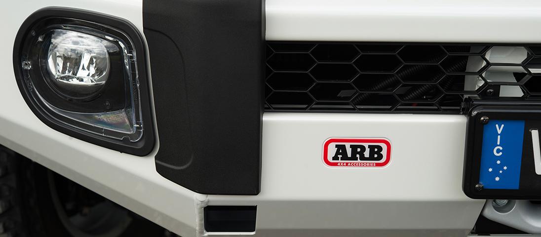 ランドクルーザー200系(ランクル200)後期 ARB サミットバンパー 純正LEDフォグランプ装着