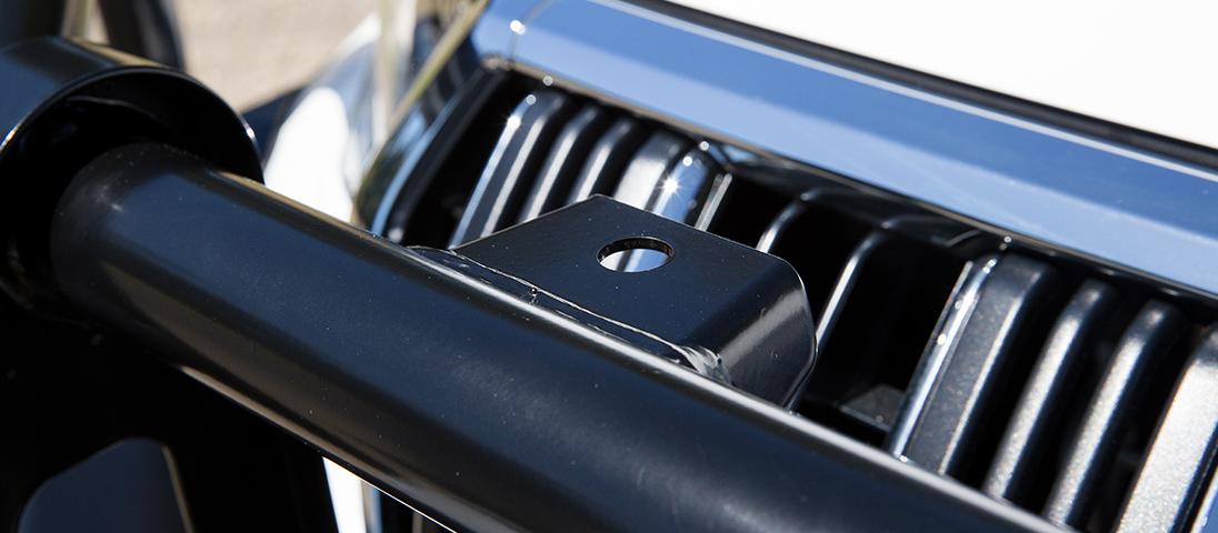ランドクルーザープラド150系(ランクルプラド150)後期 ARB コマーシャルバンパー(ブルバー)追加装備取り付けポイント