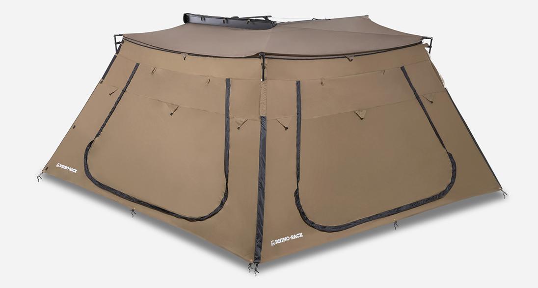 RHINO RACK(ライノラック) バットウィングオーニング エクステンションシート(出入り口付き)2枚装着画像