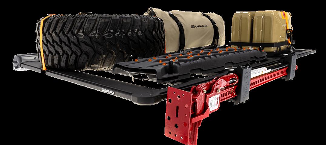 ARB BASE RACK ベースラック:薄型フラット ルーフラック ハイリフトジャッキホルダー(プレミアム)その1