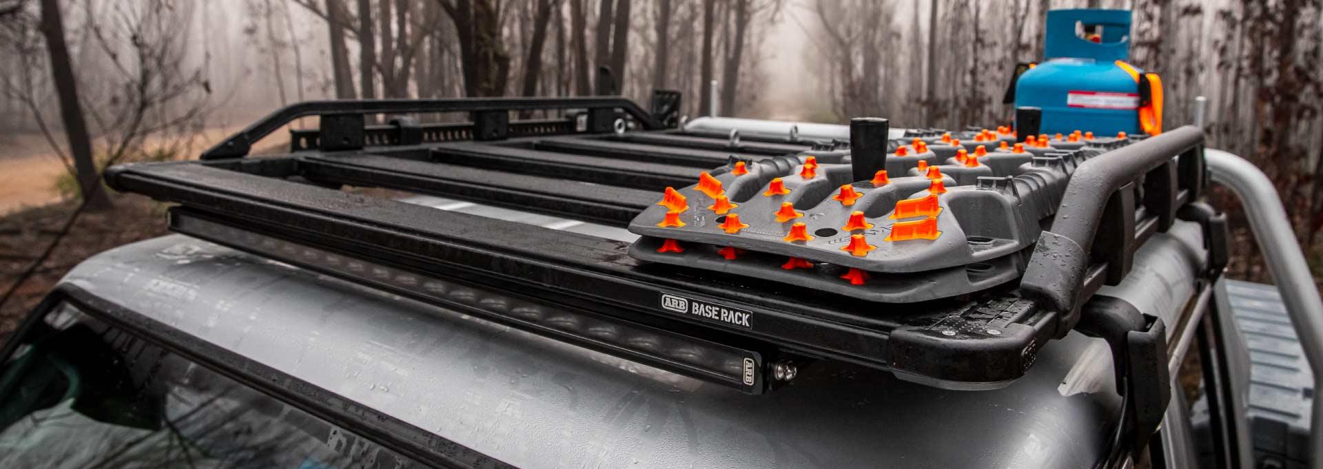 ARB BASE RACK ベースラック:薄型フラット ルーフラック ARB TRED PTO(トレッドプロ)サンドラダー 積載