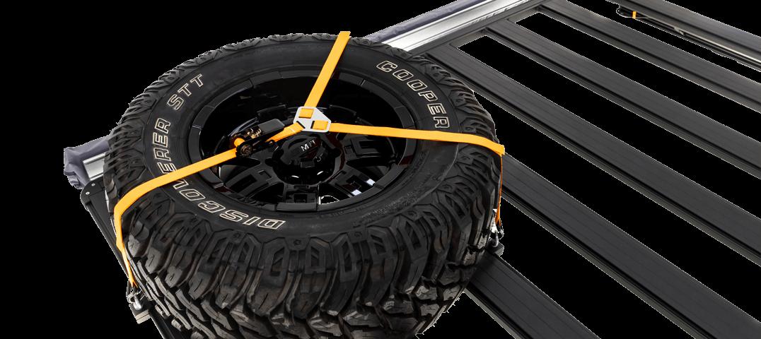 ARB BASE RACK ベースラック:薄型フラット ルーフラック スペアホイールYストラップ