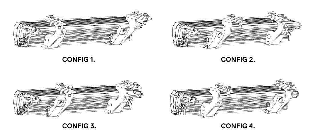 ARB INTENSITY インテンシティ LEDライトバー Rhino-Rack(ライノラック)ルーフラック取り付け用ブラケット