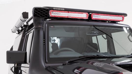 ARB INTENSITY インテンシティ LEDライトバー Rhino-Rack(ライノラック)ルーフラックに装着(1)